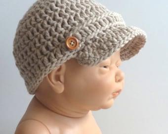 Newsboy Hat, cotton Hat, Summer cotton ha, Newsboys cap,beach baby hat, summer baby hat, news boy baby hat