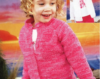 Children s Cardigan Knitting Patterns : Cardi pattern girls Etsy