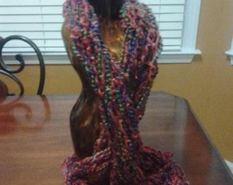 arm knitted in various colors and textures, made to order.