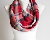 Lightweight Plaid Scarf, Woman's Scarf, Women's Scarves,  Gift for Her