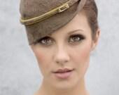 Mini Hat, Modern Womens Fashion Millinery, Retro Style Hat, 1940's Style Perch Hat, Fascinator Hat  - Milli