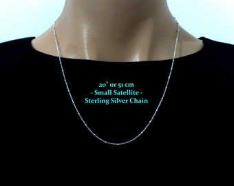 """20"""" SATELLITE Chain, Bead Chain, Ball Chain, Fancy Chain, Sterling Silver Necklace Chain, Layering Chain, Minimalist Necklace, Gift for Her"""