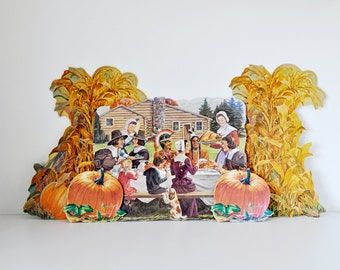 Vintage School Classroom Pilgrim Thanksgiving Posters