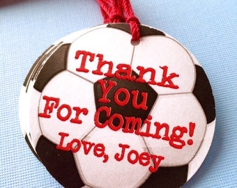 Soccer Themed Party Favor Tags