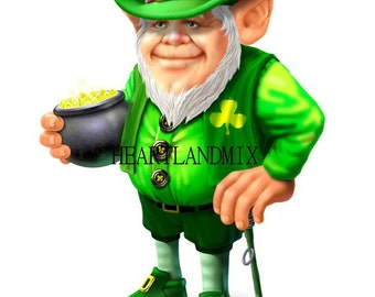 St. Patrick's Day Leprechaun Instant Download Printable Image