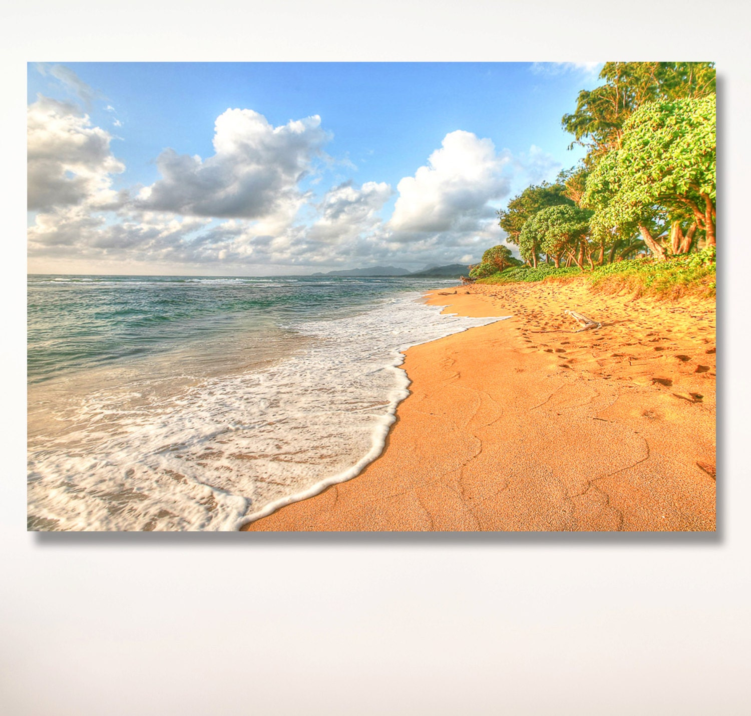 Kauai Beaches: Kauai Beach And Water Photo Ocean Photography / Kauai Beach