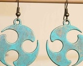 Turquoise Earrings Boho Earrings Bohemian Earrings Patina Dangle Earrings Jewelry Tribal Earrings Gift for her Gift Ideas