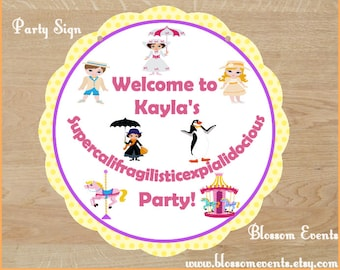 Miss Poppins Party Sign