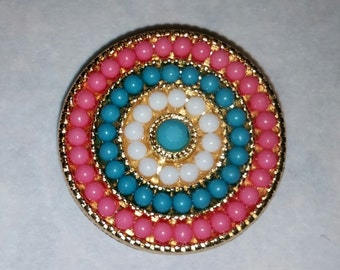 colorful beaded magnet