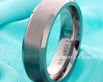Titanium Wedding Band,Mens Ring,Brushed, Beveled Edges,7mm,Titanium Wedding Ring,Custom Made,Titanium Anniversary Ring,Handmade Mens  Ring