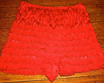 Red Lace Bloomers