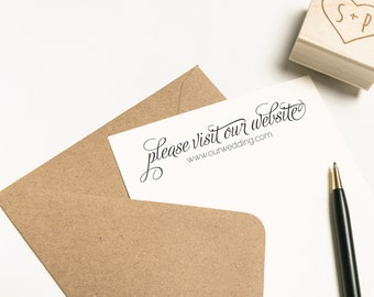 Please Visit Our Website Stamp, Wedding Website Stamp, Invitation Stamp, Personalized Website Stamp, Business Card Stamp (SFAVS148 - S.1)