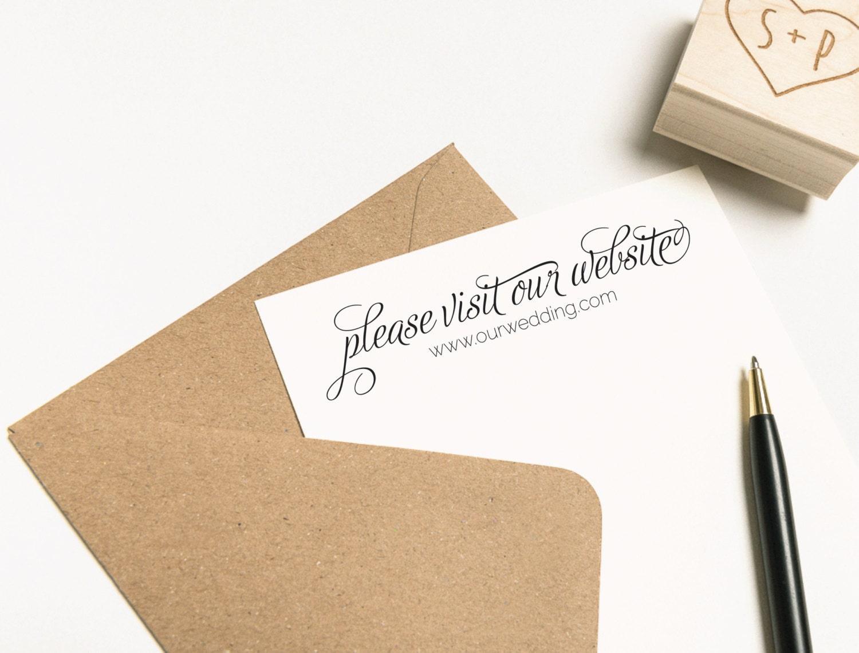 Please Visit Our Website Stamp Wedding Website Stamp