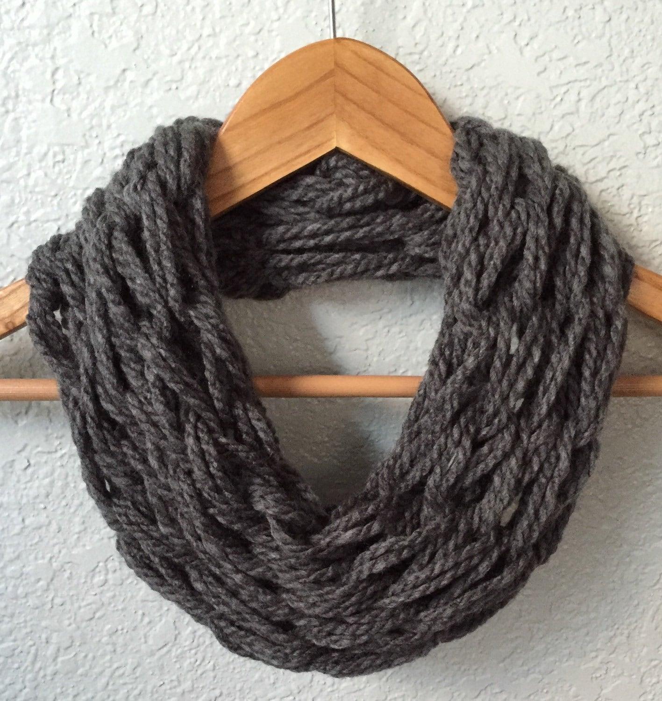 Arm Knitting Infinity Scarf : Infinity scarf arm knit