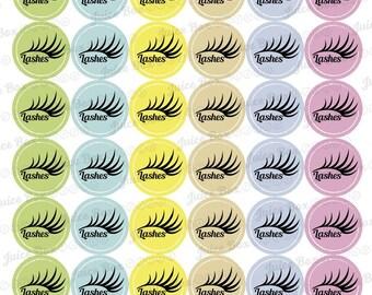 Set of 42 Eyelashes Stickers