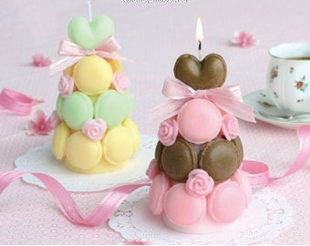 Macaron Tower Candle