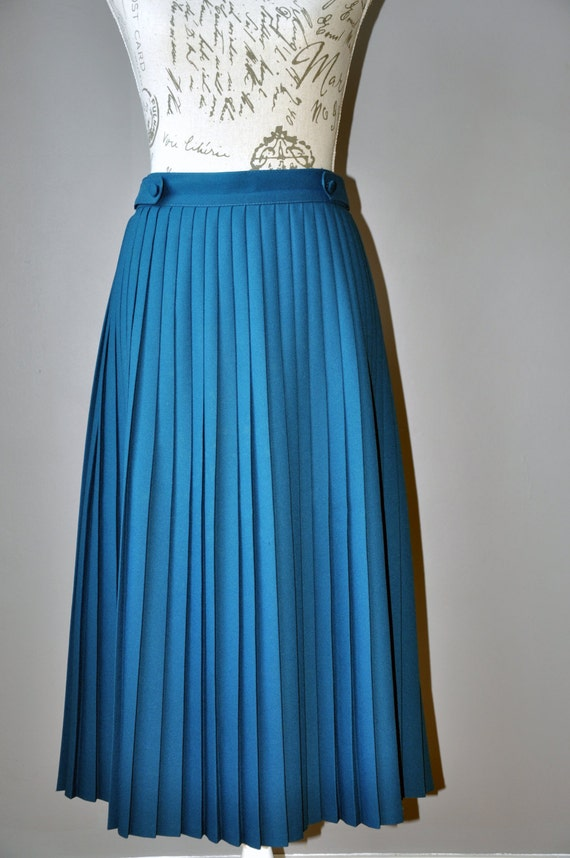 items similar to turquoise blue pleated buttoned midi