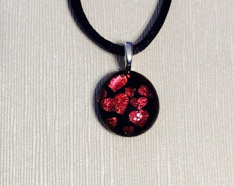Dichroic Glass Necklace-Free Shipping