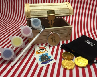 Pirate Party Favor: Treasure Chest Filled With Pirate Treasures - Pirate GIft, Pirate Party Favor