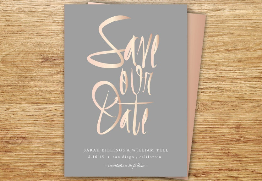 Script save the date | Etsy