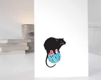 Cute Rat Birthday Card