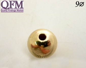 5 Pcs/Pkg Gold Filled Spacer Beads (GF 1/20 12K) , sizes: 9mm & 10mm - Gold Filled Spacer Beads
