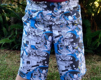 Boys Bat Man Multipocket Shorts