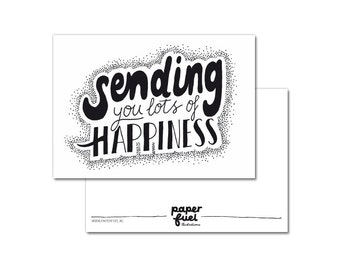 Postcard A6 // Sending you lots of happiness