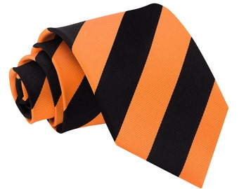 Striped Orange & Black Tie