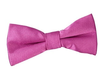 Satin Mulberry Boy's Bow Tie