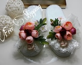 Brides Honeymoon Slippers, Handmade bridal slippers,slippers for special moments