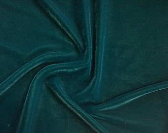 "Teal Micro Velvet Fabric Soft 45"" inches By the Yard for Sewing Apparel Crafts"