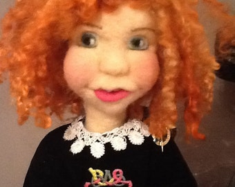 """OOAK Needlefelt doll 16"""" Tall"""