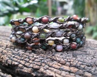 Fancy Jasper 5 wrap bracelet