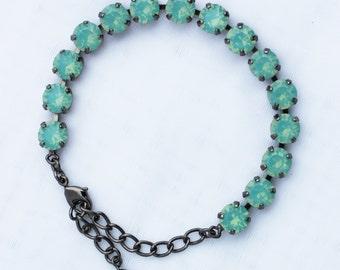 Pacific Opal 8mm Swarovski Crystal Bracelet