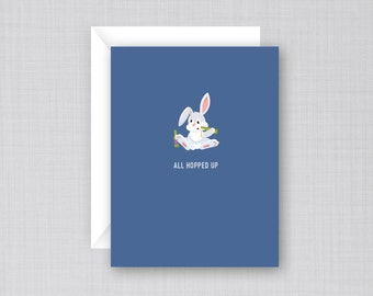 Drunk Easter Bunny Card | Funny Easter Card