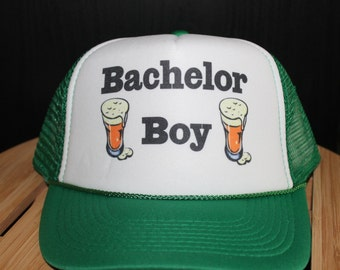 Bachelor Boy! Awesome Bachelor Party Trucker Hat. Great for The Bachelor Boy