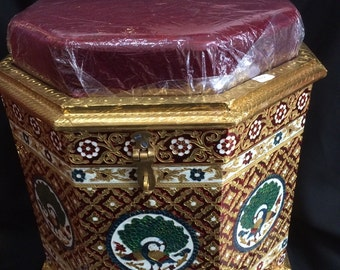 Beautiful Indian Seating Stool designed with Minakari Artwork