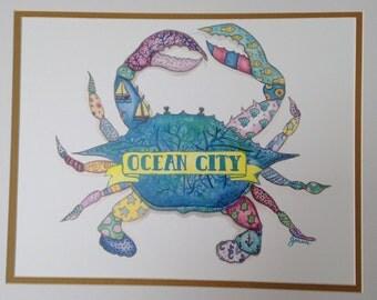 Ocean City Colorful Crab