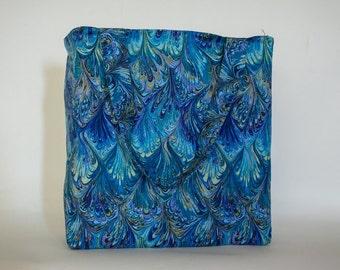 Blue Batik Tote Bag