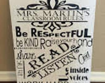 TEACHER GIFT-Personalized Classroom Rules
