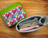 Felt Storage Box , Felt Storage Bag ,Houseware box, Home Storage Organizer ,Living Room Bins,Canvas Storage Basket---CF144