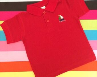 Sail Boat Short Sleeve Polo Shirt