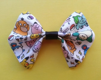 Pokemon Cotton Fabric Hair Bow