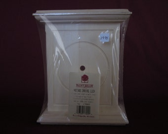 """Hastings unfinished wood carriage clock body,6""""x7 1/2"""""""