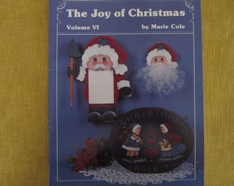 The Joy Of Christmas Vol.6,tole painting booklet,11 projects,angels,Nativty,Santa,snowman