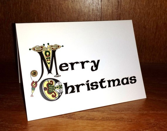 Irish christmas cards merry christmas celtic card sets like this item reheart Image collections