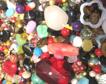 Assorted Stones, Crystals, and Beads - 1/2lb (8oz)