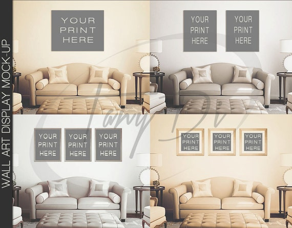Living Room 2 Wall Interior 11x14 22x28 By Tanydidesignstudio