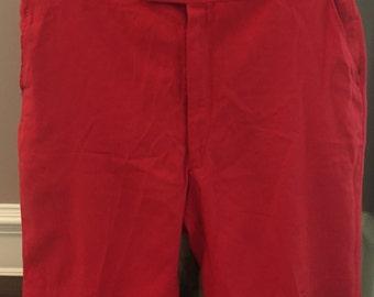 Vintage Mens Red Cotton Shorts
